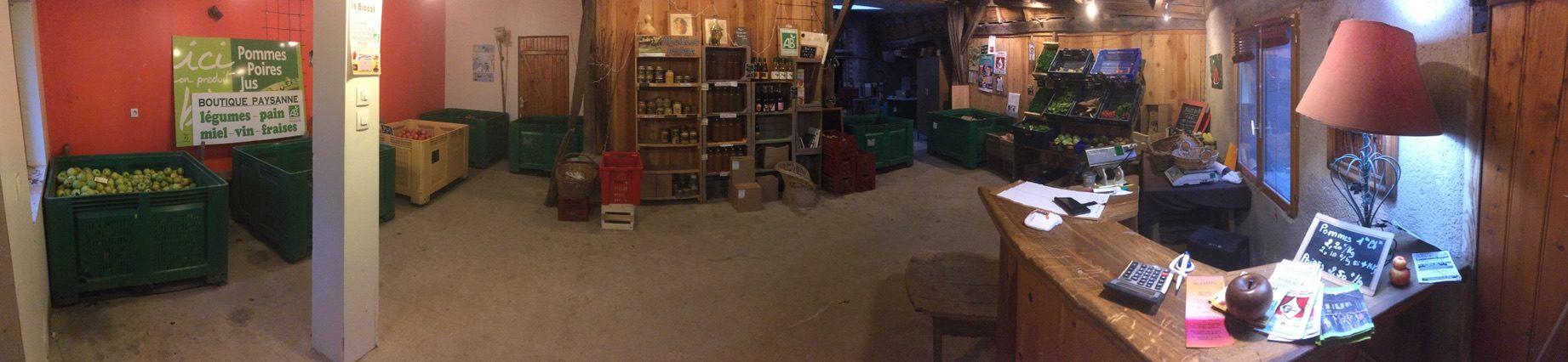 Biocal magasin de producteur à la chapelle aux naux